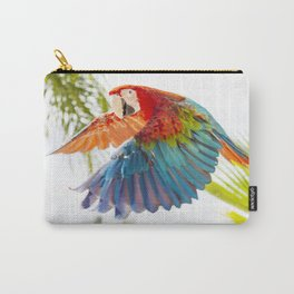 Colorful macaw flying Carry-All Pouch