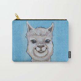 Alpaca with Dino Scarf Carry-All Pouch