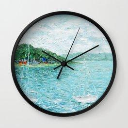 Lakeside Summer 1 Wall Clock