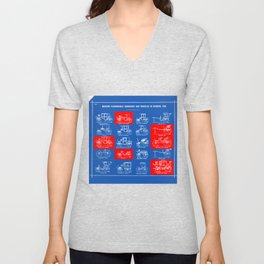 MODERN FASHIONABLE CARRIAGES AND VEHICLES IN GENERAL USE. I Unisex V-Neck