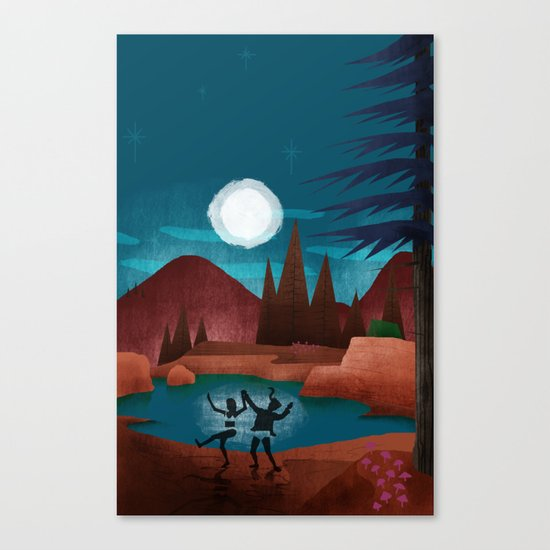 Moondance - Inspired by Wes Anderson's movie Moonrise Kingdom Canvas Print
