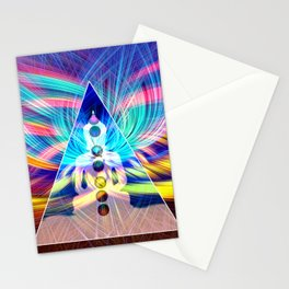 Rainbow Rays 7 Chakra Healing Meditation Stationery Cards