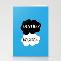 tfios Stationery Cards featuring Destiel - TFIOS by downeymore