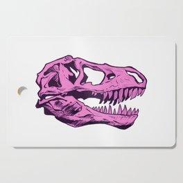 Dinosaur skull (pink) Cutting Board