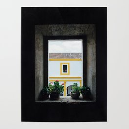 Window in Antigua Poster
