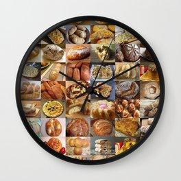 Italian Breads Montage Wall Clock