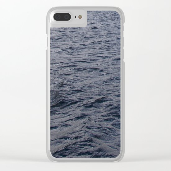 Wild waves in Loch Ness Clear iPhone Case