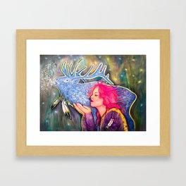 Blue Shadow Framed Art Print