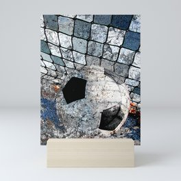 Soccer ball vs 10 Mini Art Print