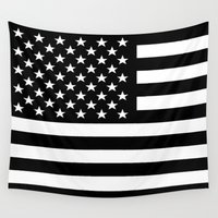 flag Wall Tapestries featuring Flag by Stephanie Janeczek
