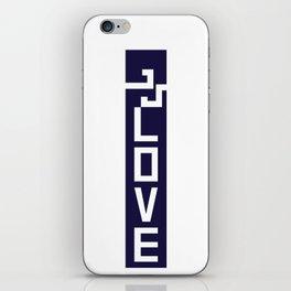 ELOVE - NAVY BLUE iPhone Skin
