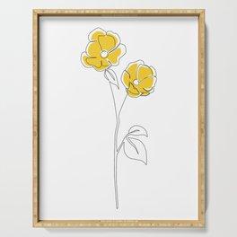 Mustard Bloom Serving Tray