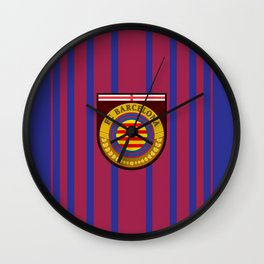 Catalonia Football Badge Wall Clock