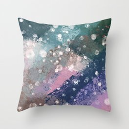 muted rainbow smudge Throw Pillow