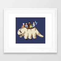 appa Framed Art Prints featuring The Gaang by NeleVdM