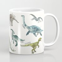 dinosaurs Mugs featuring Dinosaurs by Amy Hamilton