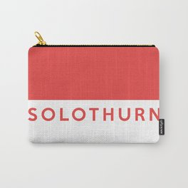 Solothurn region switzerland country flag name text swiss Carry-All Pouch