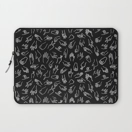 Mixed Signals Pattern in Black Laptop Sleeve