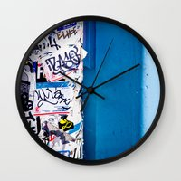 urban Wall Clocks featuring Urban by Maite Pons
