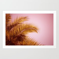 Rose Gold Tropics Art Print