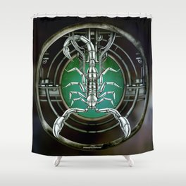 """Astrological Mechanism - Scorpio"" Shower Curtain"