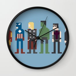 The Avengers 8-Bit Wall Clock