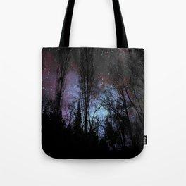 Black Trees Dark Space Tote Bag