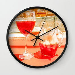 Sangri la Wall Clock