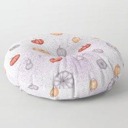 Halloween pumpkin orange gray violet watercolor splatters Floor Pillow