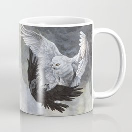 Yin Yang Owl and Raven Coffee Mug