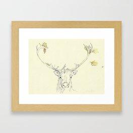 Autumn reindear Framed Art Print