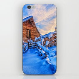 Winter Cabin iPhone Skin
