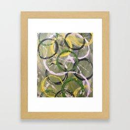 Hoops and Loops Framed Art Print