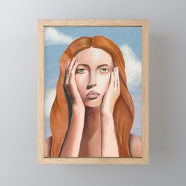 Head in the Clouds Framed Mini Art Print