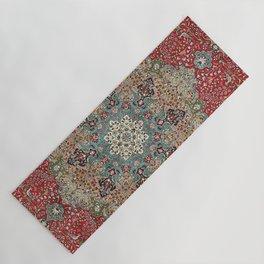 Antique Red Blue Black Persian Carpet Print Yoga Mat