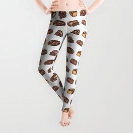 Watercolor Chocolate Truffles Leggings