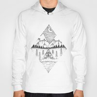 camping Hoodies featuring Mountain Camping by whatkatydoes