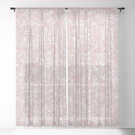 crisscross-pink Sheer Curtain