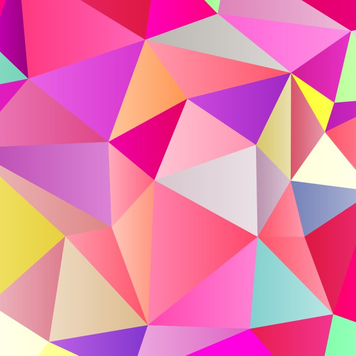 Pink Polygons Duvet Cover