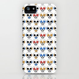 Cute Skulls No Evil II Pattern iPhone Case
