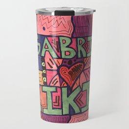 Gabe loves kiki abstract drawing Travel Mug