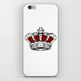 Crown - Red iPhone Skin