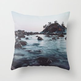 Moody Waters Throw Pillow