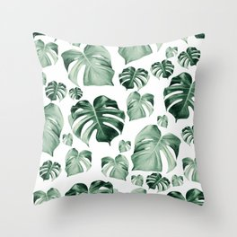 Tropical Monstera Pattern #2 #tropical #decor #art #society6 Throw Pillow
