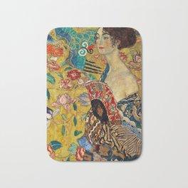 Gustav Klimt Lady With Fan Bath Mat