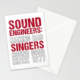 Audio Sound Engineer Acoustical Engineering Gift design Stationery Cards