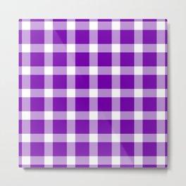 Plaid Royal Purple Metal Print
