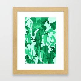 Summer Cammo Framed Art Print