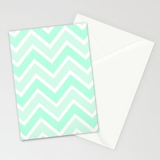 TWO-TONE MINT CHEVRON Stationery Cards
