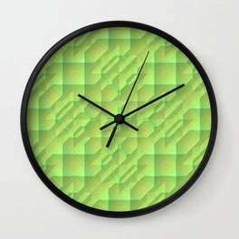 Green/Tan Pattern with a Raised Appearance Wall Clock